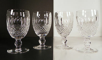 """Waterford Crystal Colleen SET OF 4 Short Stem Claret Wine Goblets 4-3/4"""" tall"""