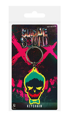 DC Comics Suicide Squad (Joker Skull) Rubber Keychain / Keyring - New.