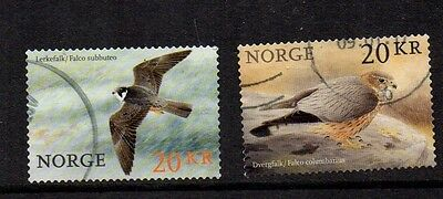 NORWAY 2017  BIRDS OF PREY ( FALCONS ) Fine Used Two Value Set ( NEW RELEASE )
