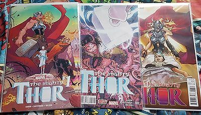 Marvel Set of 11 The Mighty Thor Comics including Variants! First Print! New!