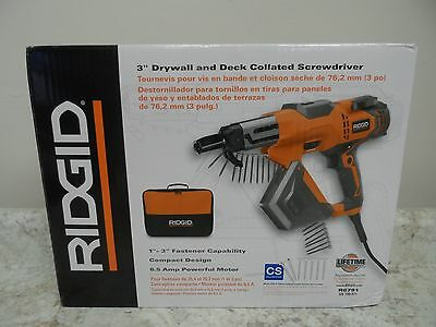 """RIDGID 3"""" Drywall and Deck Collated Screwdriver (57565-1 NO)"""