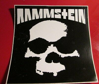Rammstein Sticker Collectible Rare Vintage 90's Metal Live Decal