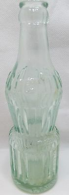 """Vintage Mit-Che Embossed Soda Pop Bottle Clear Cumberland MD 7 3/4"""" Tall"""