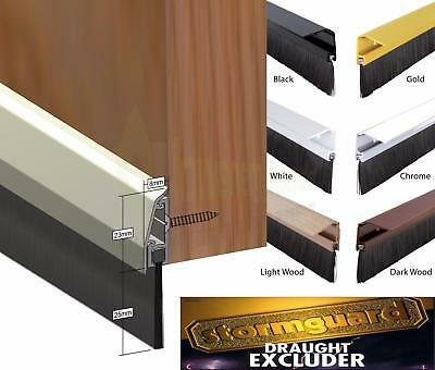 Concealed Fixing Door Bottom Brush Strip draught excluder sweep draft seal