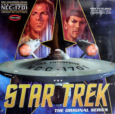Star Trek U.S.S. Enterprise NCC-1701 Anniversary 1:350 Model Polar Lights POL938