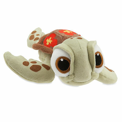 "Finding Nemo 7 1/2"" SQUIRT TURTLE Plush Bean Bag Toy Doll Disney Store 2016 NEW"