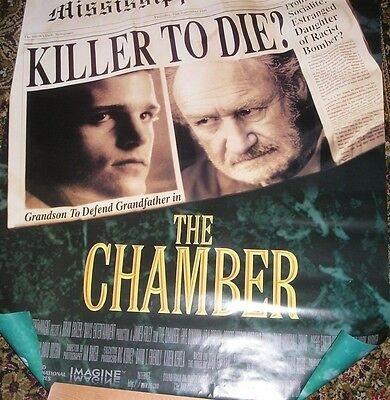 Gene Hackman, The Chamber, Orig 90's Us One Sheet Film Poster