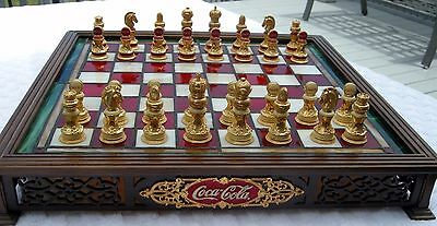 RARE - Franklin Mint Coca Cola Stained Glass Chess Set