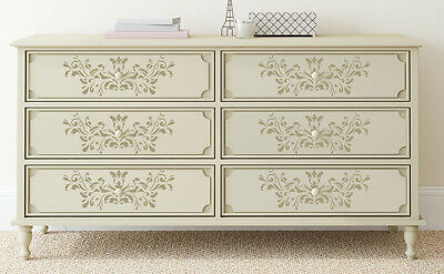 A5 A4 A3 Stencil FLORAL Vintage French Shabby Chic Furniture Craft FL6