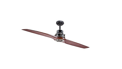 """Kichler Lighting 56"""" Satin Black w/ Antique Pewter Accents Ceiling Fan w/ Remote"""