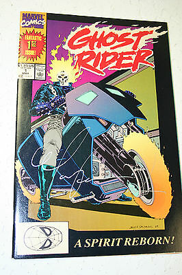 Ghost Rider Life's Blood Vol.2. No.1 May 1990 1St Issue Nm 8.5+ Signed!!