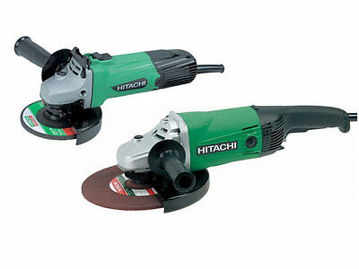 Hitachi G23SSL/J2TWIN 240v Angle Grinder Twin Pack 4 1/2 in + 9in