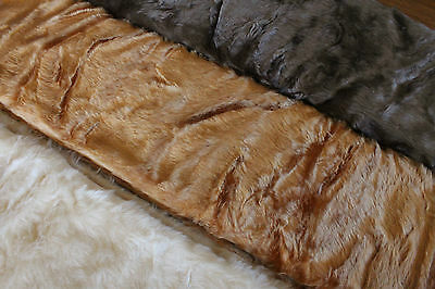 Bear making Faux Fur 1.10mts x 150cm ~ choice of Vanilla OR Camel OR Chocolate