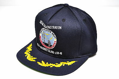 US Navy USS Whidbey Island LSD-41 Ship Cap for SSDS MK I Demonstration RAYTHEON