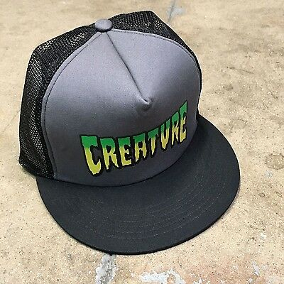 Creature Skates Grey/Black Patch Trucker Hat CSFU Santa Cruz Independent Trucks