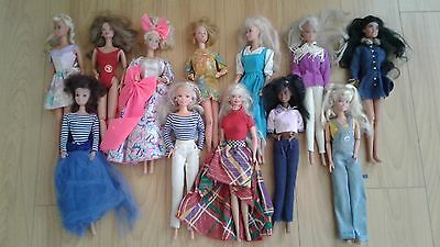 12 Barbie Dolls Lot, used out of box Lot #1, all originals.