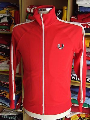 Trainingsjacke Fred Perry (Youths L) Rot Red Weiss White Track Jacket Jacke