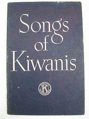 Vintage Songs of Kiwanis Song Book 150 pages