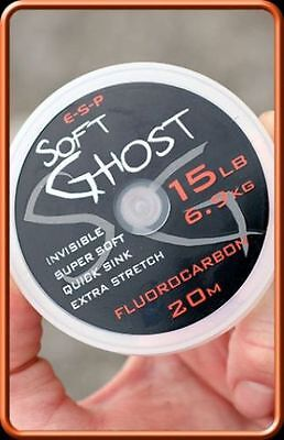 ESP Soft Ghost Fluorocarbon Hooklength 20m For Carp Fishing line