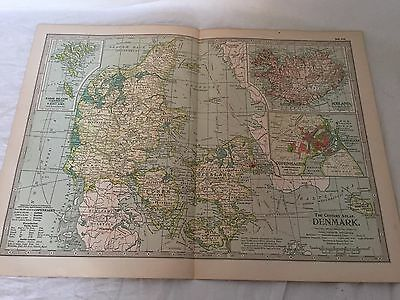 Vintage Denmark Iceland The Map CENTURY DICTIONARY and CYCLOPEDIA 1906 20086