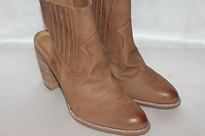 70a62bcc885 NEW DOLCE VITA Saddle Leather JASPER Slingback Western Ankle Boots Booties  Sz 10