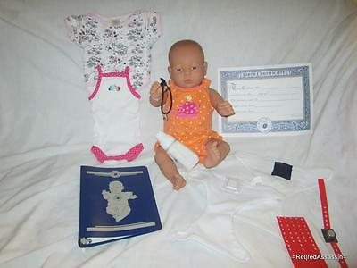 RealCare Baby Think It Over Doll G6 Gen 6 White Caucasian Girl Female + Extras