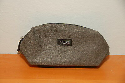 Delta Airlines Business Class Gray Soft TUMI Amenity Kit Bag