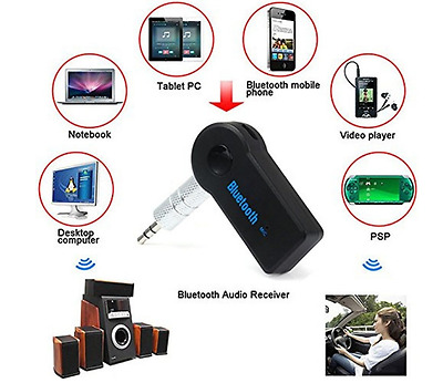 3.5mm Bluetooth Car Home Music Audio Aux Stereo Receiver Adapter Transmitter UK