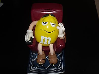 M&M's M & M's Yellow Lazy Boy Recliner Remote Candy Dispenser 1999 Collectible
