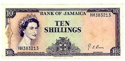 Jamaica ... P-51Be ... 10 Shillings ... L.1964 ... *F-VF*
