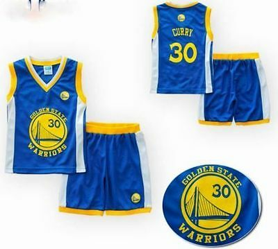 Steph Stephen Curry #30 Infant Baby Kids Basketball Jersey Set Golden State