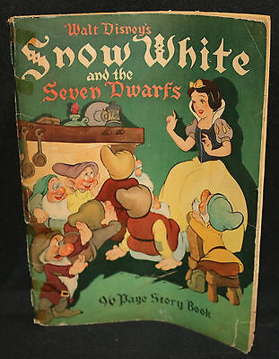 Walt Disney's Snow White and the Seven Dwarfs 96 Page Story Book - 1938
