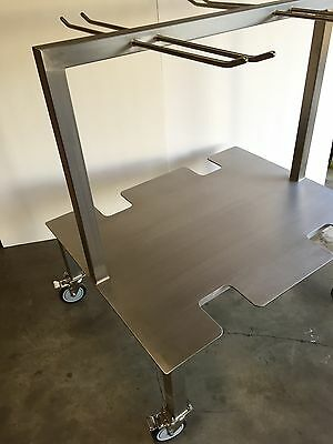 Laboratory Rack BPC Bioprocess Buffer Stainless Steel Clean Room Cart SEATTLE US