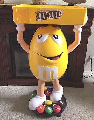 Yellow M&M Candy Character Advertising Store Display Not Sold To Public