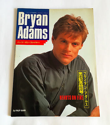 BRYAN ADAMS Hearts On Fire JAPAN PHOTO BOOK 1988 w/Poster