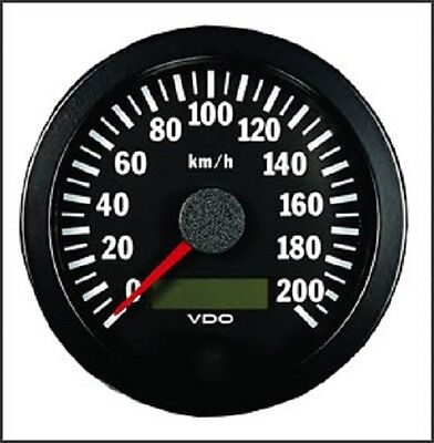 VDO Electronic 12/24V 100mm Speedometer 0-200 km/h 437 015 029