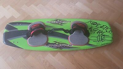 litewave kiteboard kitesurfing board 115 twin tip