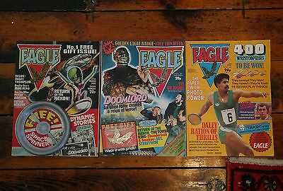 Vintage EAGLE COMICS. NUMBERS 1, 2, 3 WITH FREE GIFTS 1982