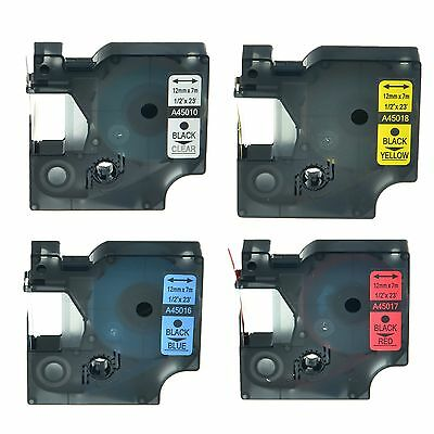 """45010 45016 45017 45018 Label Tape for DYMO D1 LabelPoint 300 250 12mm 1/2"""""""