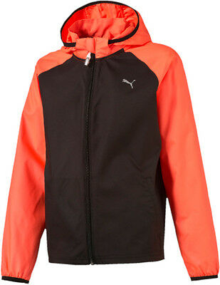 Puma Windbreaker Junior Running Jacket - Black