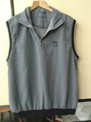 Lyle & Scott Turnberry Men Wind resistand Grey Check Tank Top Vest  Size L