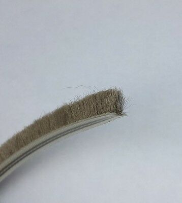 Woolpile Weatherstrip Draught Excluder Brush Pile Seal for Windows and Doors