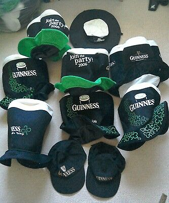 10 Guinness Party St Patrick's Day Hats 2001 -2009 + aussie and 2 caps
