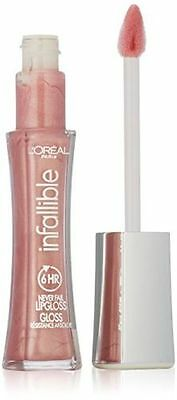 L'Oreal Infallible Lipstick 6Hr Lip Gloss Shade Petal #105 NEW