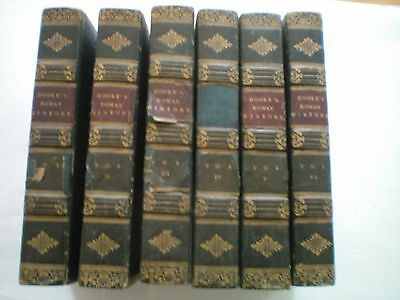 ROMAN HISTORY FROM THE BUILDING OF ROME IN SIX VOLUMES  by NATH NOOKE 1821  H/B
