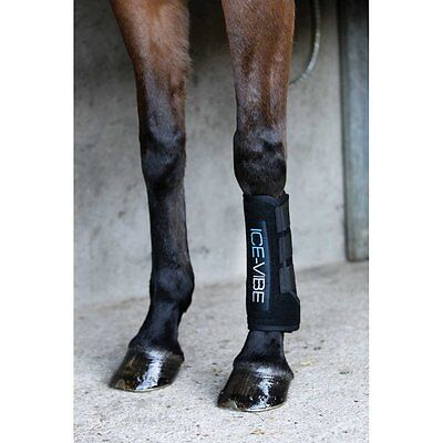 Horseware Ice Vibe Boots Black - Full- Therapeutic Horse Boots