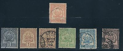 1888 - 1902 Tunisia (7) EARLY USED ISSUES; AS SHOWN