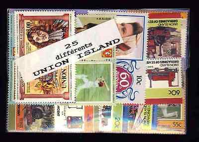 Union Islands 25 timbres différents