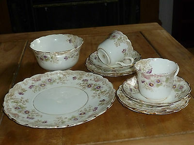 Queens victorian china - Tea for Two Set x 10 pieces - beautiful florals xxx