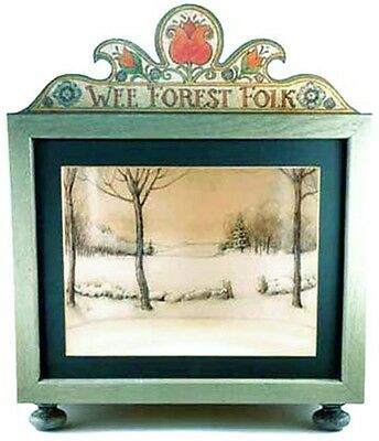Wee Forest Folk Display Case - Green with Winter Scene